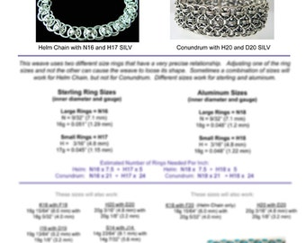 Chainmaille Tutorial - Helm Chain & Conundrum (Beginner/Intermediate) - PDF