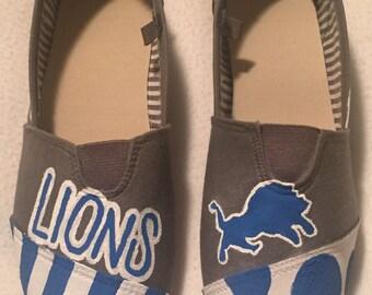 Detroit Lions Hand Painted Shoes