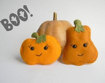 Pumpkin felt ornament Fall Season Party Cute Halloween ornaments Halloween decor kawaii  pumpkin Thanksgiving felt
