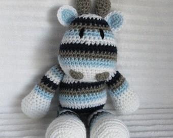 Crochet Animal, Crochet Giraffe Stuffed Animal, Blue and Grey, Giraffe Plush, Rainbow Giraffe, Crochet Giraffe Animal, Blue Giraffe