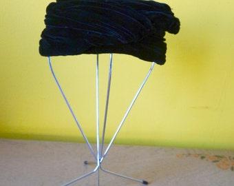 Black Velvet Hat by Helen