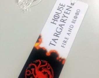 House Targaryen: Game of Thrones bookmark