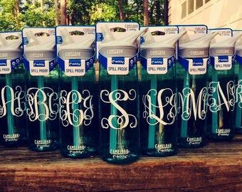 Monogrammed CamelBak Water Bottle .75 L Eddy, pattern vinyl, Lilly Pulitzer, custom water bottle, monogrammed water bottle