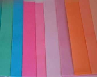 3 wafer paper, wafer paper sheets, solid color, wafer paper sheets, edible paper, rice paper