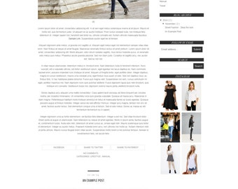 SALE Premade Blogger Template - Fashion Blogger Template - Responsive Blog Template - Simple and Clean  Blogger Theme - Blog Design - MANUAL