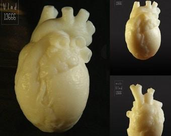 Heart soap - Anatomical heart soap - Valentine's Day -  Black soap- Black heart - Gothic soap