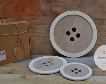Wooden Buttons  - wood buttons handmade cutting - hand cut wooden buttons, wall art