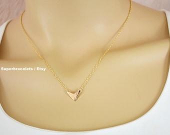 chevron necklace gold silver, Arrow necklace, gold chevron necklace, silver chevron necklace, chevron pendant necklace, chevron necklaces