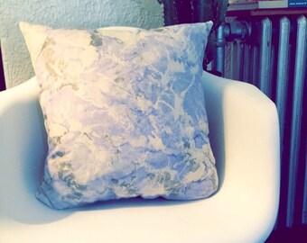 Periwinkle + Gray Decorative Pillow