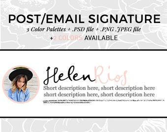 Blog Graphics | Blog Post Signature | Professional Email Signature | Script Font | Avatar Image | Wordpress Theme | Blogger Templates | SIL