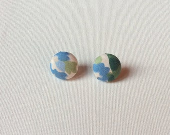 Abstract Button Earrings