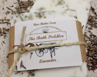 Lavender Handmade Shea Butter Soap - One Bar