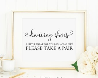 Dancing Shoes Sign. Wedding Printables. Wedding Signage Printable. Wedding Day Signs. Reception Signs. Wedding Reception Decor. DIY Wedding