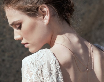 Stella - Back Necklace (BN-03R) Rose Gold