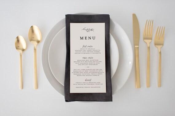 olivia wedding menus (sets of 10)  // lola louie paperie