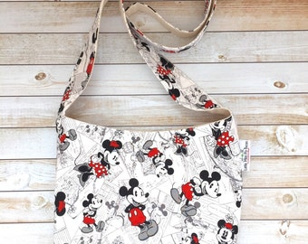 Mickey Crossbody Bag, Crossbody Purse, Boho Crossbody Bag, Canvas Bag