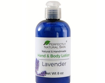 Natural Lavender Lotion with Shea Butter & Aloe, 8 oz