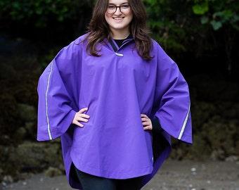 Light Purple Rain Poncho for Adults (REG)(TALL)