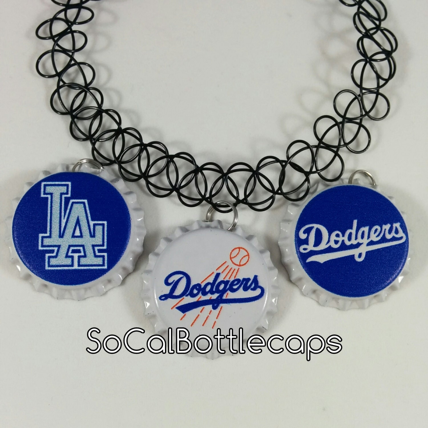 Los angeles dodgers bottle cap tattoo choker by for The order tattoo los angeles