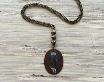 Short aquamarine necklace / blue aquamarine necklace / crystal necklace / elegant necklace / bohemian necklace / gemstone necklace
