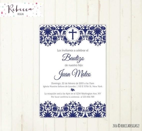 invitaciones de bautizo para nino invitacion bautizo ni 241 o azul imprimible primera comunion
