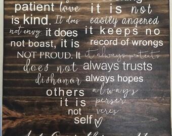 Corinthians Love Sign
