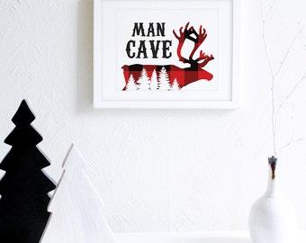 Mens Wall Art man cave wall art   etsy