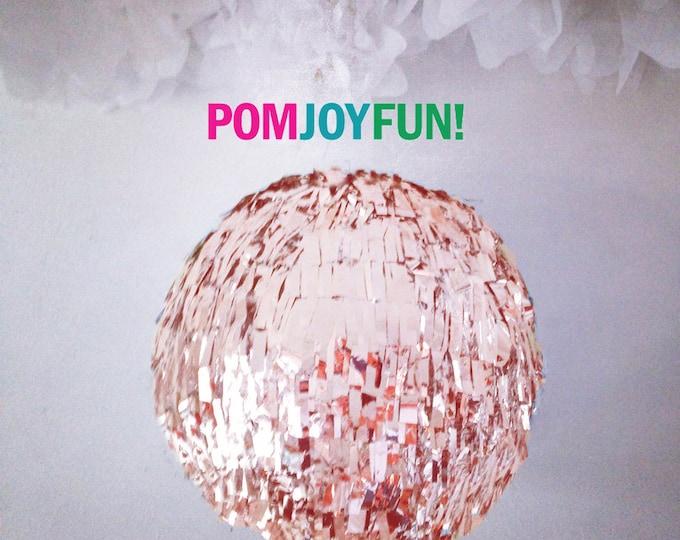 HUGE Rose Gold Gender Reveal Fringe Piñata | Gold Birthday Piñata | Baby Shower Piñata | Fringe Wedding Pinata | Guest Book Pinata