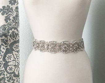 Bridal Sash, Wedding Dress Belt, Rhinestone Bridal Sash, Crystal Sash Belt, Wedding Dress Belt, Bridal Sash Belt 2039