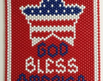 God Bless America Beaded Banner