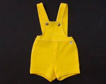 Vintage French yellow baby absorba dungarees 6 months