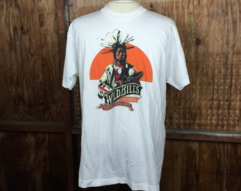 Vintage, VTG, Dead Stock, 90's Wild Bills Wild West Dinner Extravaganza Show T-Shirt X-Large XL White Made in USA Tee