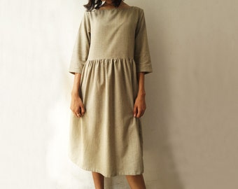 Women's Organic Cotton Dress in Natural Dyes
