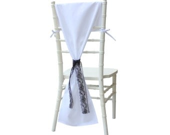 Chiavari Chair Hoods White Drapes Backs Covers