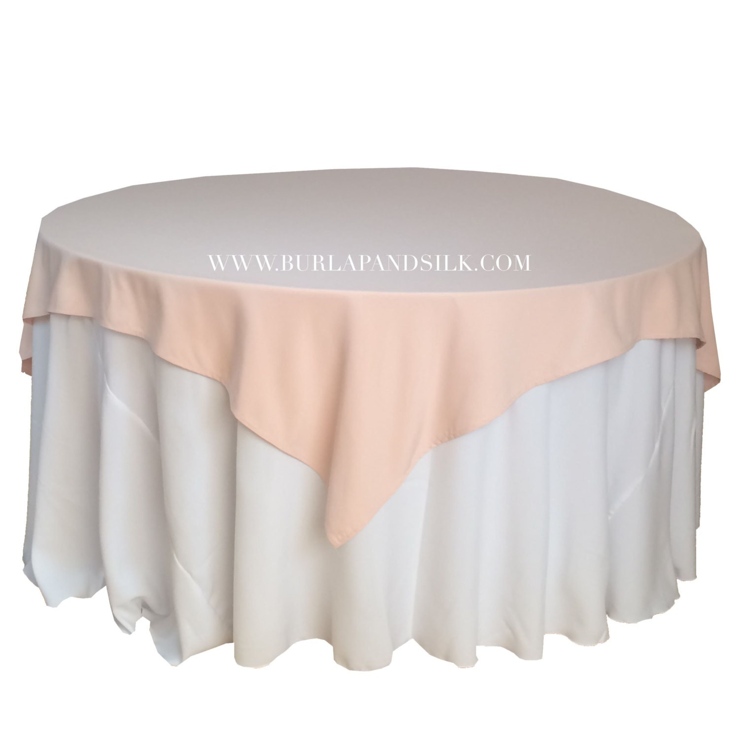 Blush table overlays 85 x 85 inches table overlays for 6 ft for 85 table overlay