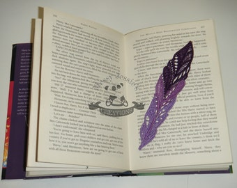 feather lace bookmark