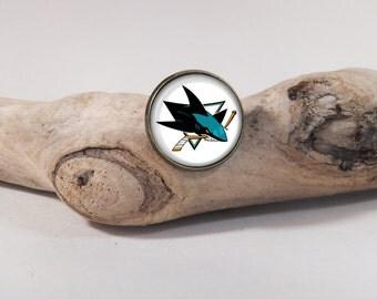 Pin Hockey San Jose Sharks LOGO 20mm