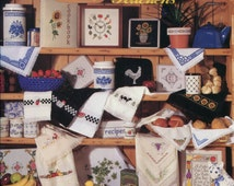 1990s Kitchen Cross Stitch Pattern Book The Omnibook for Kitchens 2nd in the Series 115 Designs Jeanette Crews Designs  Book #802