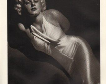 Print from book; Jean Harlow, 9 x 12 inches - PD001098