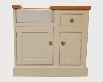 Bespoke Butler Sink Unit Painted