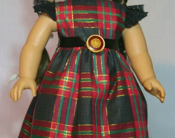 Dress / Gown for 18 inch Doll.  Holiday / Christmas
