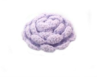 Pale purple crochet brooch, Handmade brooch, crochet jewelry, Crochet flower brooch, lapel pin, shawl pin, mori girl, gift for her