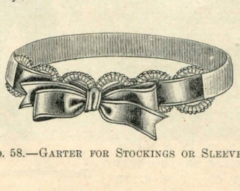 "1895 ""Exceedingly Pretty"" Crochet Garter Pattern"