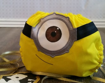 Minion Cloth Diaper Cover or Pocket Diaper