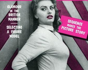 Magazine  Art Photography  1956  Sophia Loren Cover  Brigitte Bardot   plus Many Beautiful Women Actresses Figure Models inside  mature