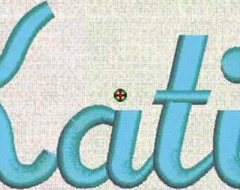 Machine Embroidery Designs, Fonts, Monogram, Alphabet Fancy Script Font 52 Files Upper and Lower ART Bernina Format Instant Download