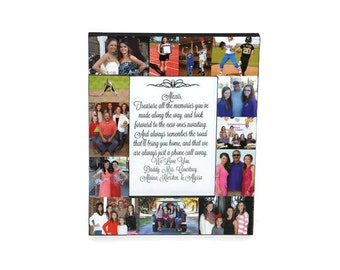 Mother Daughter Picture Frame Photo Frame Collage Best Friend, To my Daughter as she Graduates, Senior Night, Last Game Personalized Message