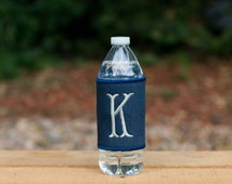 Monogrammed Solid Can Cooler Wrap