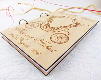 Happily Ever After Wedding Guest Book, Wedding Wood Advice Book, Laser Cut Wedding Guest Book, Wood Guest Book, Custom Guest Book, Landau