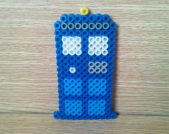 Doctor Who T.A.R.D.I.S. Police Box made with perler (Tardis)